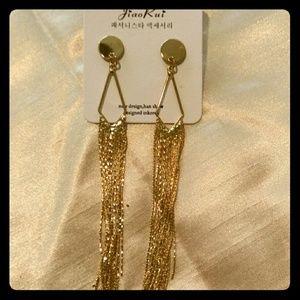 Gorgeous Bold Gold Waterfall Earrings